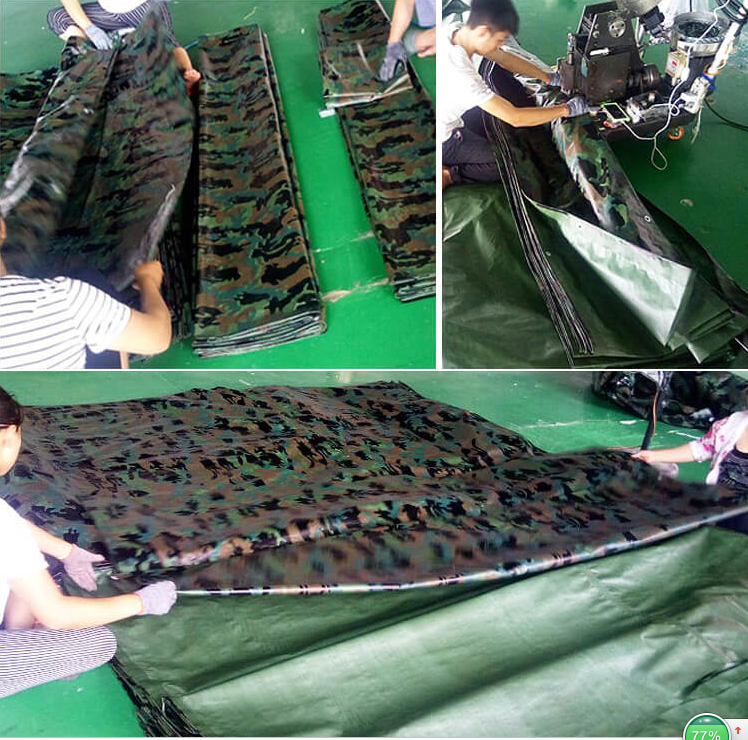 Camoflage PE tarpaulin sheet Ground Cover