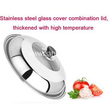 Stainless Steel Universal Lid For Pots Replacement Cookware
