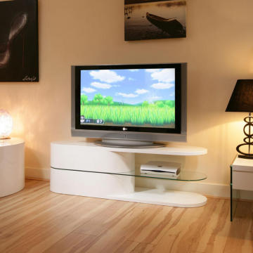 Contemporary MDF wood TV stand in lacquer