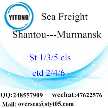 Shantou Port LCL Consolidation To Murmansk
