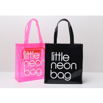 Clear Transparent PVC Tote Beach Bags with Printing