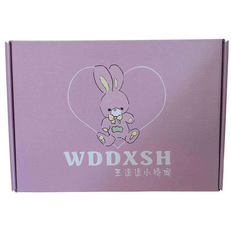 Custom pink clothes t shirt packaging shipping box