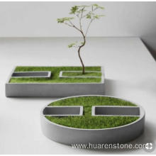 Renewable Design for Granite Planter,Pebble Stone Planters,Stone Garden Planters Manufacturer in China Blue stone flower pot export to South Korea Manufacturer