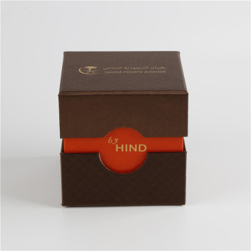 Texture Effect Cardboard Corporate Gift Packaging Box