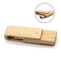 Wooden Swivel USB Flash drive with logo engraved