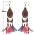 Retro Handmade Feather Indian Earring Jewellery For Women
