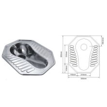 Professional Design for Sheet Metal Mold Stamping Stainless Steel WC Squatting Pan products In Toilet export to Uruguay Manufacturer