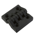 Nickel Coated Steel Pin Black Nylon Cabinet Hinges