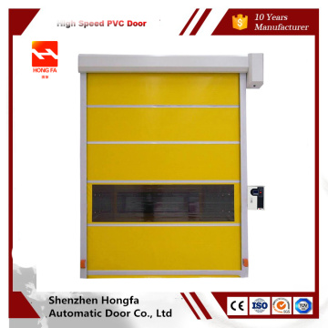 High speed spiral door