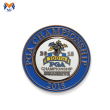 New championship personalized silver metal enamel coins