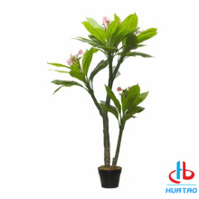 Artificial Pink Flower and leaves Potted plant