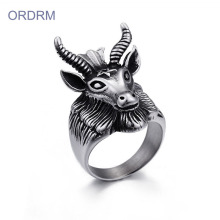 Custom Design Your Own Goat Head Ring Online