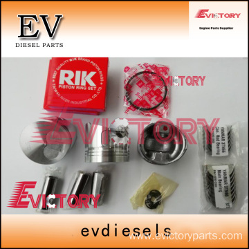 excavator 3TN66 engine gasket bearing piston ring liner