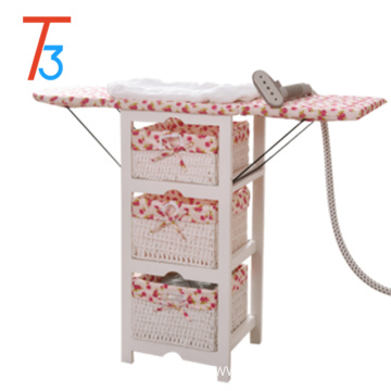 foldable ironing board solid wood paulownia cabinet storage basket