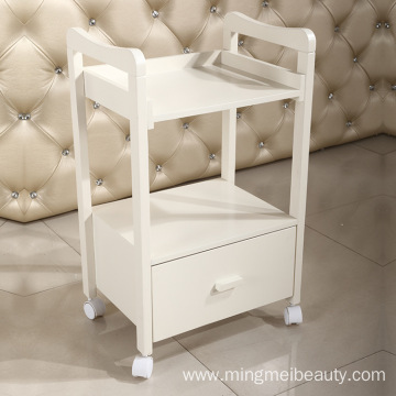 Salon Furniture solid wood Trolley with drawer