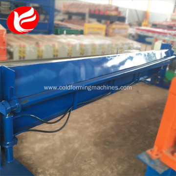 Cnc hydraulic manual corrugated zinc sheet bending machine