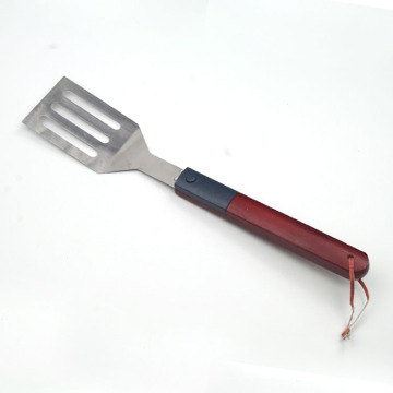 led light bbq spatula with wood handle