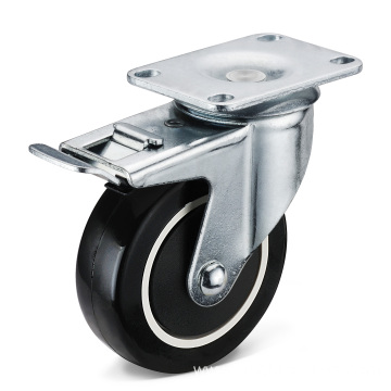 The PU Movable Double Brake Casters