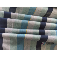 Soft Green Stripe Yarn Dyed Woven Shirting Fabric