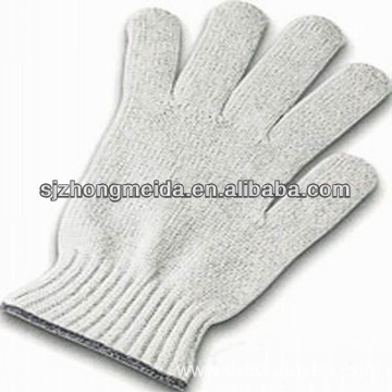 cotton knitted gloves white color