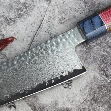 Handmade forged damascus steel kitchen chef knife