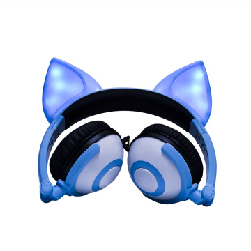Leading for Fox Ear Headphones,Disposable Earphones,Fox Headphones Manufacturers and Suppliers in China Cosplay Fox Ear Wired Headphones Light up Headsets supply to Senegal Supplier