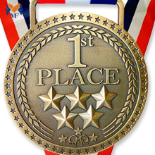 Professional for Football Medal,Basketball Medal,Sports Medal Manufacturers and Suppliers in China Multiple metal star medal 1st place gold medal export to Cape Verde Suppliers