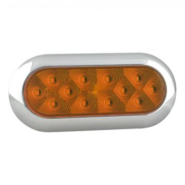 "SAE/DOT 6"" Trailer Indicator Lights Chromes"