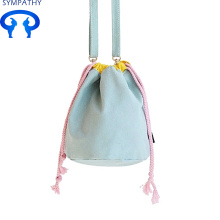 Custom lovely drawstring bag hand bag