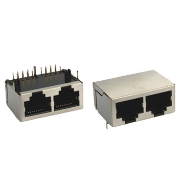 RJ45 Modular Jack 3U gold plating connector