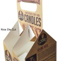 Custom logo printed candle paper box with handle