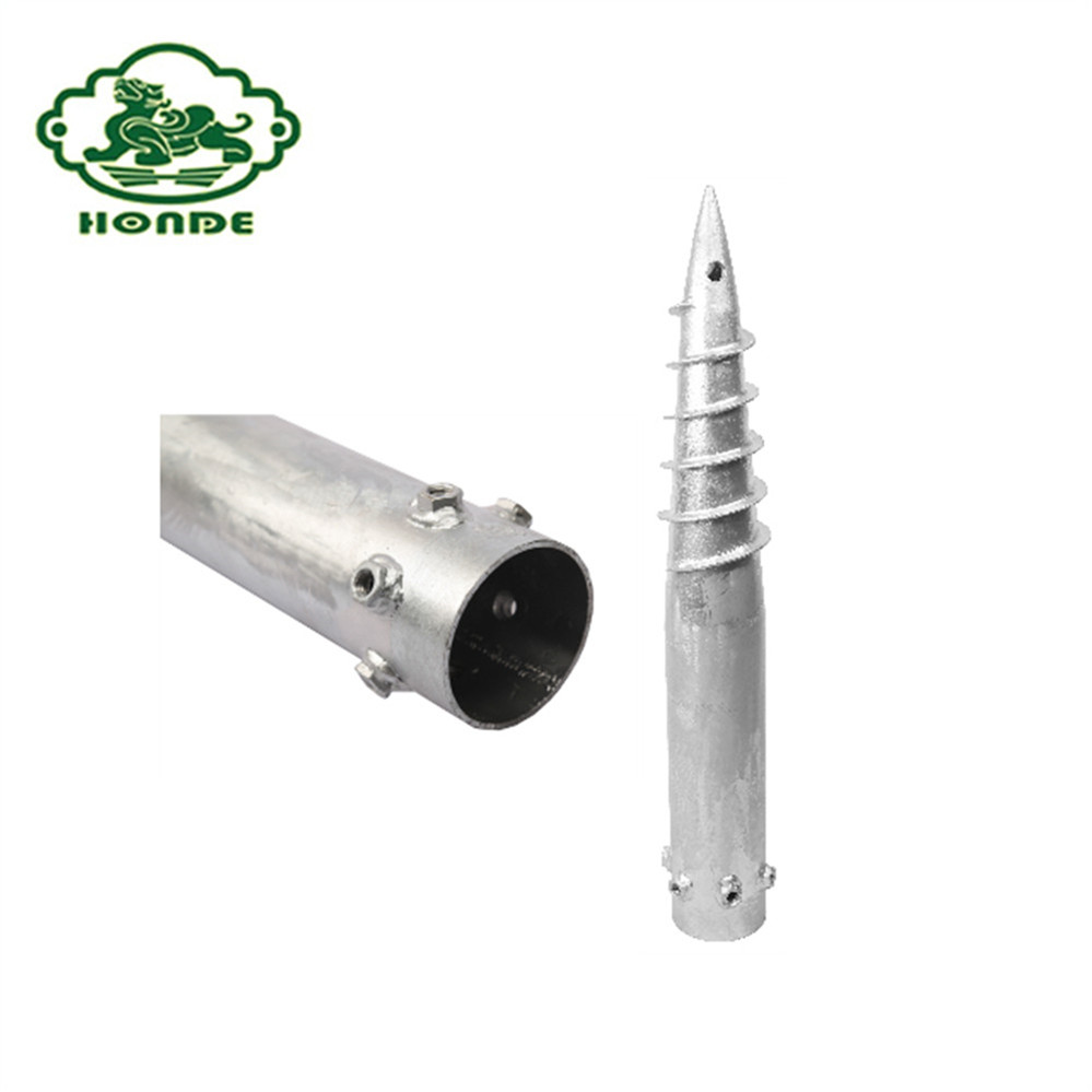 Galvanized Ground Screw For Park And City