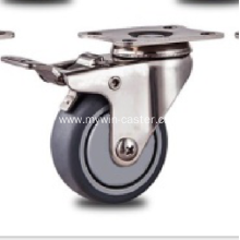 2` inch Stainless steel bracket nylon casters with  brakes