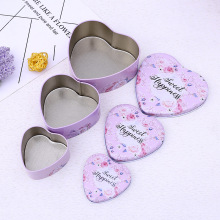 Heart Shaped Wedding Gift Box Metal Tin Cans