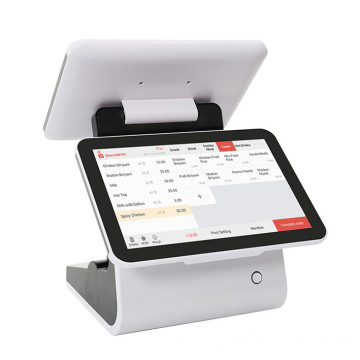 Casher Pos System Dual Screen Machin For Restaur