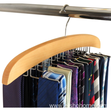 EISHO Wood Tie Hanger With 24 Hooks