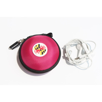 Cheap price for Nylon Fabric EVA Earphone Case Portable zipper case for earphone export to Italy Exporter