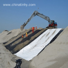 Geotextile with two different surface finishe