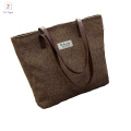 Top quality shoulder bag lady handbag 100% cotton shoulder bag