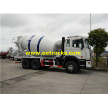 6x4 245HP 15000L Cement Mixer Trucks