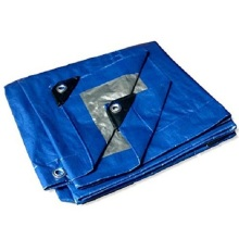 Fire Resistant PE Tarpaulin blue color