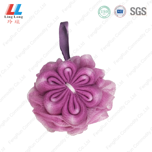 Luxury mesh flower bath sponge ball