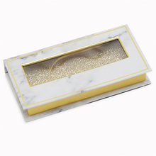 White Magnetic Custom Eyelash Boxes Packaging Case
