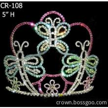 Rhinestone Easter Butterfly Pageant Crown