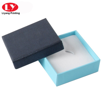 Small square gift ring box with white foam