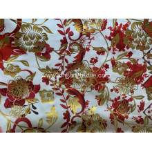 Golden Powder Print Polyester Fabric