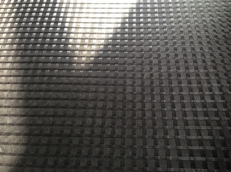 Asphalt Pavement Fiberglass Geogrid With Nonwoven Fabric