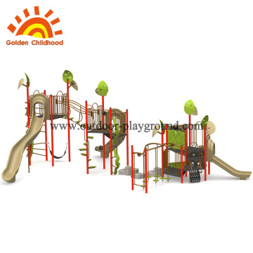 Outdoor playground gym combination slide