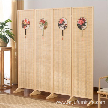 Folding screen room divider panel