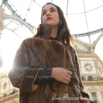 Winter Long Women Mink Fur Coat
